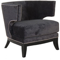 Black Studded Loft Armchair - Sweetpea & Willow London