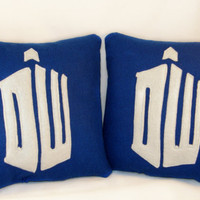Dr Who cushion  Superhero pillow by TheCraftyButtonUK on Etsy