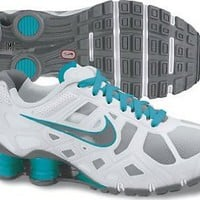 Amazon.com: Nike Women&#x27;s Shox Turbo XII - Pure Platinum / Cool Grey-Bright Turquoise, 6.5 B US: Shoes