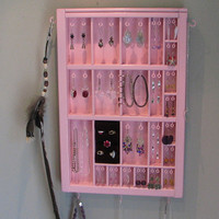 Jewelry Organizer with side stud slots and a by BlackForestCottage