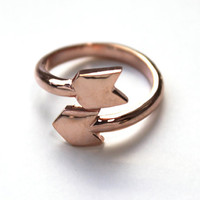 Arrow Wrap Ring 14K rose gold dipped