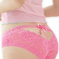 Pink Classic Fashion Thongs from LingerieGate