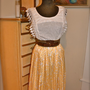 Vintage Women's Silk  Pleated Skirt or Strapless by feathersndust