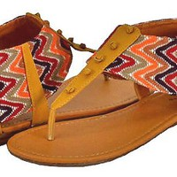 My Associates Store - Qupid Agency-237 Tan Women Flat Sandals