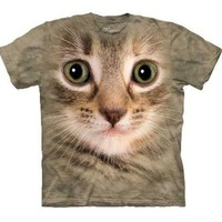 Kitten Face Men's Tan Tee (Medium)
