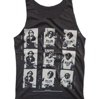 "JOHN LENNON ""New York City Life in 70's"" Tank Top The Beatles Pop Rock Musician Shirt Size S M"