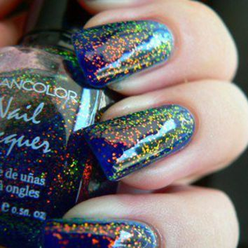 Kleancolor CHUNKY HOLO BLUEBELL Nail Polish FREE SHIPPING