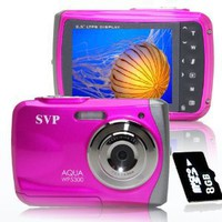 Amazon.com: NEW WP5300 Pink(with 8GB Micro SD)Waterproof 12MP Digital Camera& Video Recorder: Camera & Photo