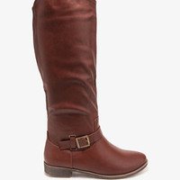 Buckled Riding Boots | FOREVER 21 - 2044654570