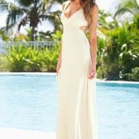 Open back maxi dress in the VENUS Line of Dresses for Women
