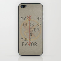 The Hunger Games Poster 02 iPhone &amp; iPod Skin by Misery | Society6