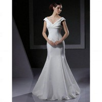 A-line Trumpet / Mermaid V-neck Floor-length Taffeta Wedding Dress - Wedding Dresses 2011 Collection - Wedding Dresses - Wedding  Events
