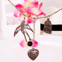 $7.99  Vintage HeartBirdcageSwallow Long Chain Necklace at Online Jewelry Store Gofavor