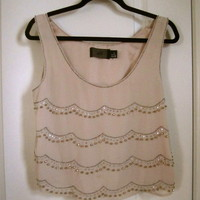 H&amp;M Beaded Sheer Tank