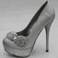 Elegant PU Upper Stiletto Heels Closed-toe Women's Shoes: tidestore.com