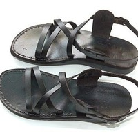 Black Biblical Jesus - Yashua Sandals - Footwear from the Holy Land - Genuine Leather - Camel Trade