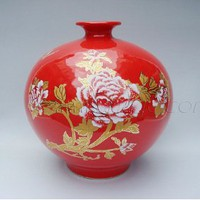 Small Red Pomegranate Vase [UF-PV051] - $46.00 : Buy Unique Craft Gifts From Best Online Shop, Ufingo