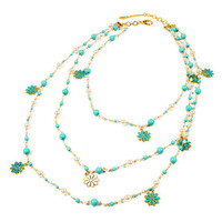 Amrita Singh Turquoise Resin Madeline Necklace