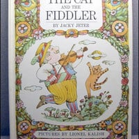 1968 The Cat and the Fiddler Vintage Childrens by VintageWoods