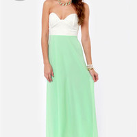 LULUS Exclusive Pastel-Tale Heart Mint Green Maxi Dress