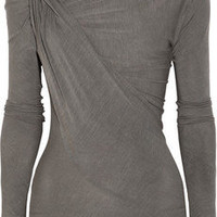 Donna Karan | Twisted stretch-jersey top | NET-A-PORTER.COM