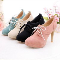 Women&#x27;s Lace-up High Heel Shoes