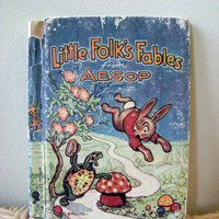 1940 Little Folk's Fables from Aesop by VintageWoods on Etsy