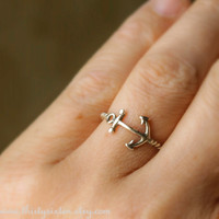Anchor Ring Sterling Silver by ThirtySixTen on Etsy