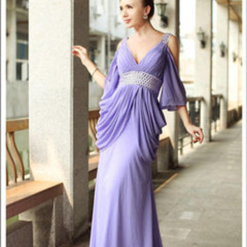 Purple Maiden Evening Dress