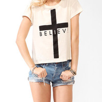 Oversized Believe Tee