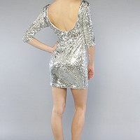The Sequin Mini Dress in Matte Silver : Blaque Label : Karmaloop.com - Global Concrete Culture