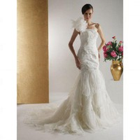 Trumpet / Mermaid Strapless Court Train Satin Organza Wedding Dress - Wedding Dresses 2011 Collection - Wedding Dresses - Wedding  Events