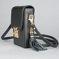 The Tayla iPhone Pouch in Black Leather : Mata Hari : Karmaloop.com - Global Concrete Culture