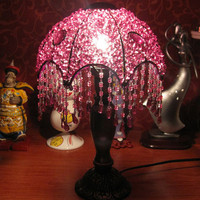 Hand Beaded Bedside Christmas Gift Lamp