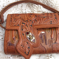 Vintage Hand Tooled Leather Bohemian by mycreativeinstincts