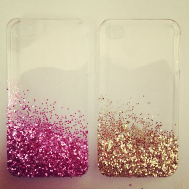Glitter IPhone 4 Case by Kkaitlynp on Etsy