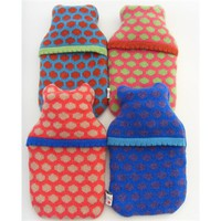 'Buttonbox' Mini Covered Hot Water Bottle by Deryn Relph at Seek & Adore