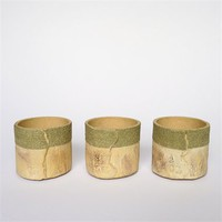 Set of wallpaper textured tea-lights by Claire Lovett at Seek & Adore
