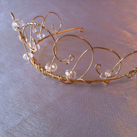Shimmer Tiara A Wire Crown Flower girl Princess by WirePrincess