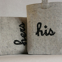 Reusable Sandwich Bags Set of 2 His and Hers on by thehighfiberco