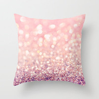 Blush Throw Pillow by Lisa Argyropoulos | Society6