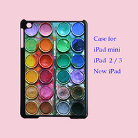 WaterColor Box - iPad Mini case , iPad 2 case , New iPad case  in plastic hard ,color in black or white