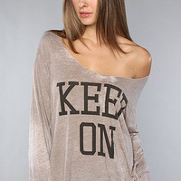 The Keep On Long Sleeved Boyfriend Tee : Rebel Yell : Karmaloop.com - Global Concrete Culture