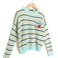 @Free Shipping@ Light Green Ladies Knitting Sweater One Size niya040lgr from Voguegirlgo