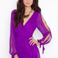 Violet Wrap Romper in  Clothes at Nasty Gal
