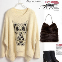 Twinking Owl Jumper Sweater-bat wing version