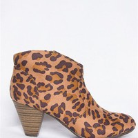 Suede Western Stacked Heel Bootie - Leop from Oppo at Lucky 21 Lucky 21