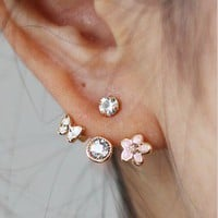 Lovely small flower  stud earring