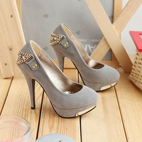 Faux Suede High Heels