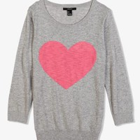 Heathered Heart Pullover | FOREVER 21 - 2040495104